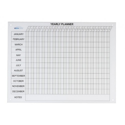 Year Planner - Magnetic Glass