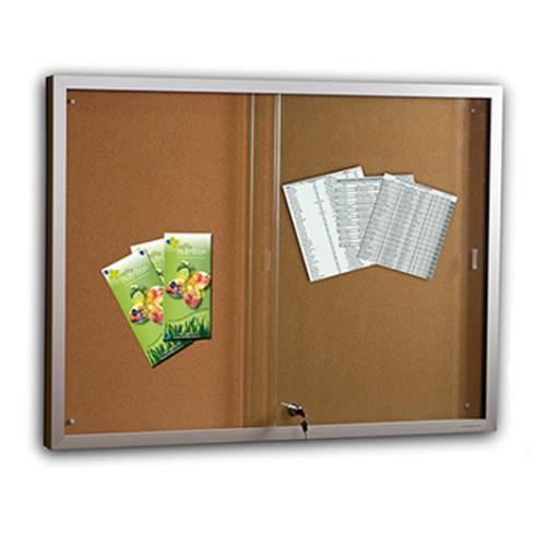Sliding Glass Door Display Case - Cork