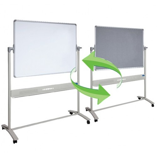 Mobile COMBO Whiteboard and Pinboard
