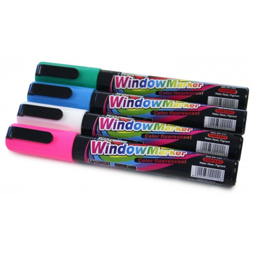 Fluro Markers  for Glassboards and Windows
